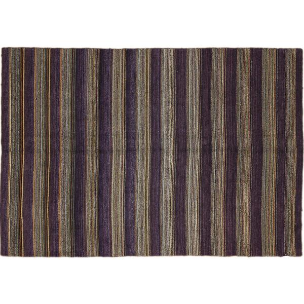 Oushak Sattar Purple Hand-knotted Rug (6'6 x 9'10)