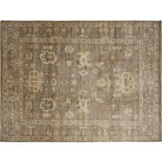 Fine Oushak Jasmin Brown Hand-knotted Rug (8'9 x 12'1)