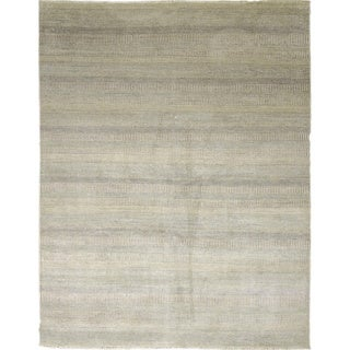 Super Fine Grass Roxie Ivory Hand-knotted Rug (8' x 10')