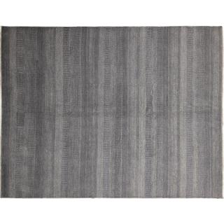 Super Fine Grass Jamsheed Grey Hand-knotted Rug (8' x 10')