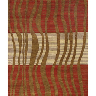 ABC Accent Tibetan Modern Hand-knotted Wool Rug (9' x 12')