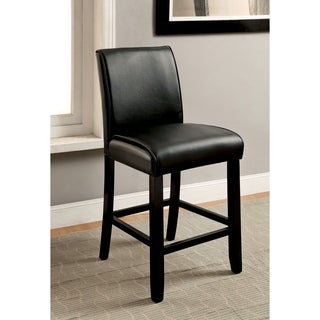 Furniture of America Jared Contemporary Black Counter Stool (Set of 2)