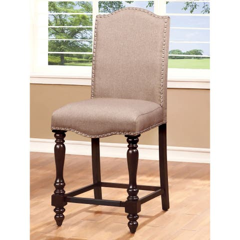 Furniture of America Ketz Transitional Ivory Counter Chairs (Set of 2)