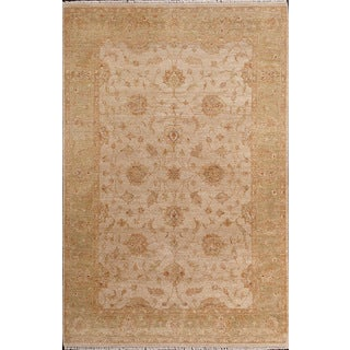 ABC Accent Ziegler Hand-knotted Beige Wool Rug (8' x 10')
