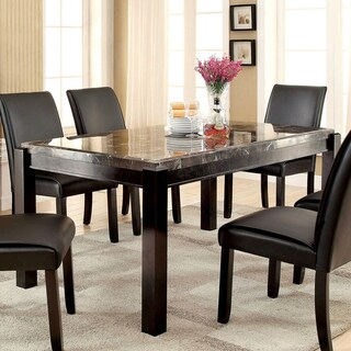 Shop Furniture Of America Jared Genuine Marble Top Dining Table