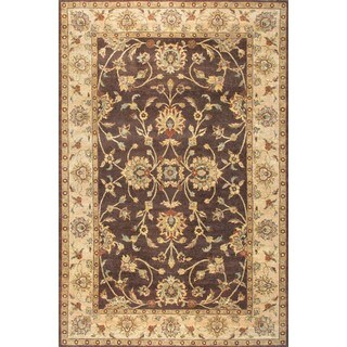 ABC Accent Ziegler Hand-knotted Brown Wool Rug (4' x 6')