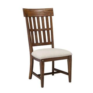 Wolf Creek Vintage Acacia Slat Back Side Chair w/ Cushion (Set of 2)