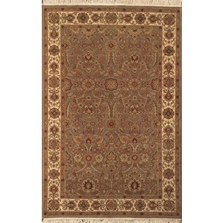 ABC Accent Jaipur Hand-knotted Brown Wool Rug (4' x 6')