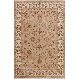 ABC Accent Ziegler Hand-knotted Beige Wool Square Rug (6' x 6')