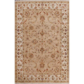 ABC Accent Ziegler Hand-knotted Beige Wool Square Rug (8' x 8')