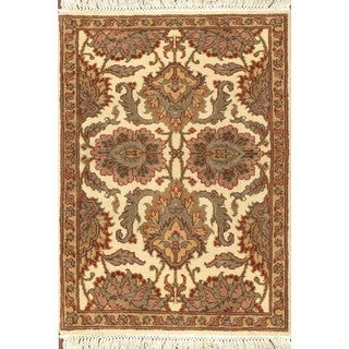 ABC Accent Jaipur Floral Beige Wool Square Rug (8' x 8')