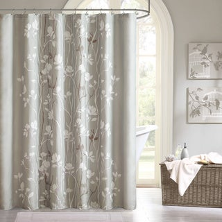 Madison Park Essentials Sonora Printed Shower Curtain Grey Only 72x72(As Is Item)
