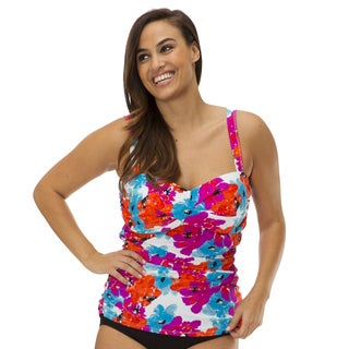 Mazu Swim Womens Plus Size Bayshore Bloom Tankini