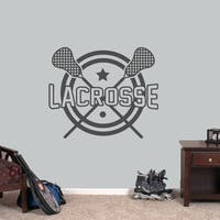 """Lacrosse Sports Wall Decal - 36"""" wide x 30"""" tall"""