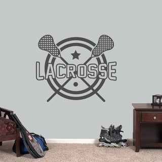 "Lacrosse Sports Wall Decal - 36"" wide x 30"" tall"
