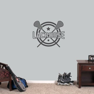 """Lacrosse Sports Wall Decal - 24"""" wide x 20"""" tall (More options available)"""