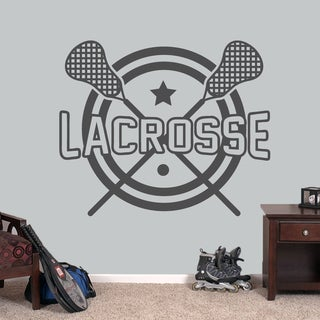 "Lacrosse Sports Wall Decal - 48"" wide x 40"" tall"