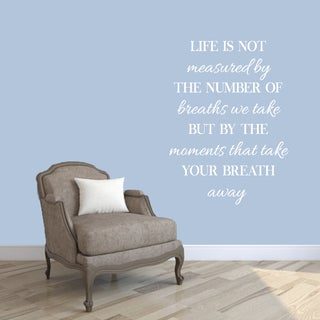 Moments That Take Your Breath Away' 35 x 48-inch Wall Decal