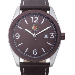Louis Richard Men's Woodcroft Watch with Brown Genuine Leather Strap