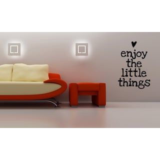 Enjoy the Little Things quote Wall Art Sticker Decal