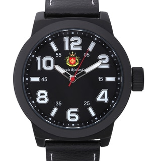 Louis Richard Men's Rockfleet Watch with Black Genuine Leather Strap
