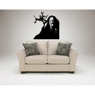 Halloween Scary Witch Wall Art Sticker Decal