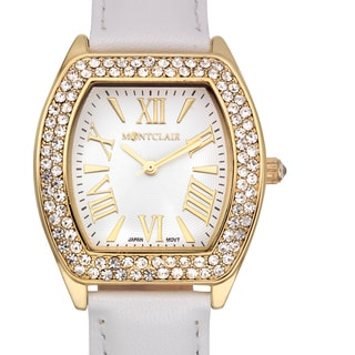 Montclair Women's Casse White Leather Stainless Steel Watch