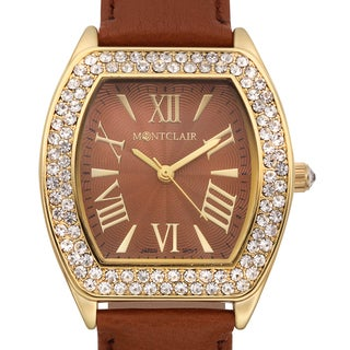 Montclair Women's Casse Brown Leather Stainless Steel Watch