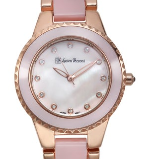 Lucien Pezzoni Women's Sacra Rose-tone Pink Mother of Pearl Watch