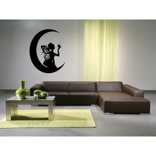 Fairy on the Moon Wall Art Sticker Decal