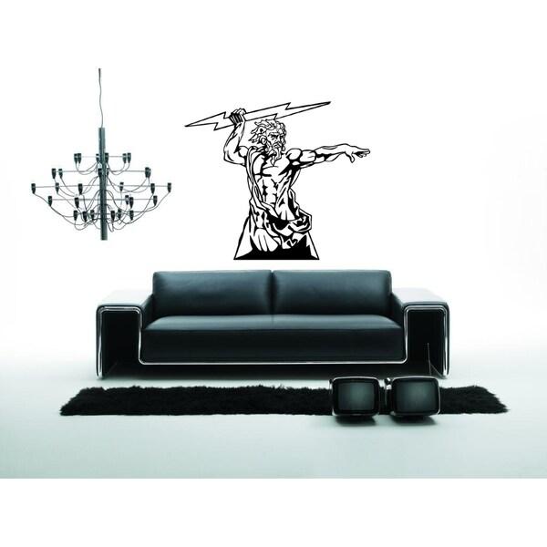 shop zeus, god of war and thunder wall art sticker decal - free