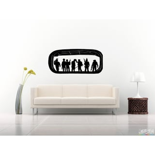 Soldiers with guns Wall Art Sticker Decal