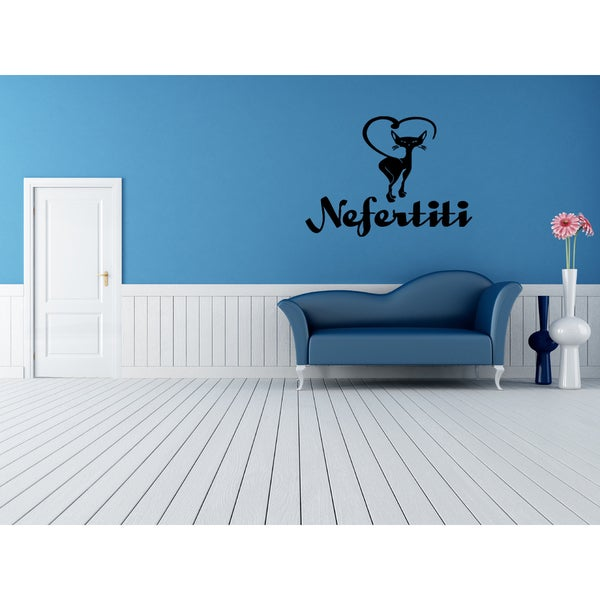 Nefertiti Cat Wall Art Sticker Decal