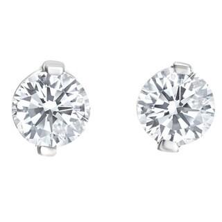 SummerRose 14k White Gold 1ct TDW 2-prong Diamond Earrings (H-I SI1-SI2)