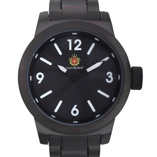 Louis Richard Men's Bodiam Black Brushed Finish Ion-plated Metal Link Quartz Watch