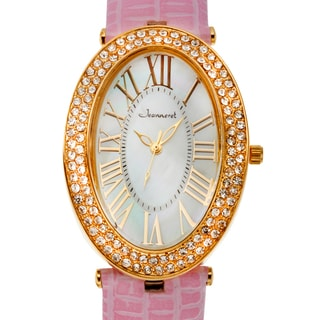 Jeanneret Women's Isabella Mother of Pearl Watch with Pink Leather Strap