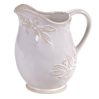 Certified International Binaca Ivory Pitcher 3-quart