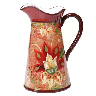Certified International Spice Flowers Pitcher 2.75-quart