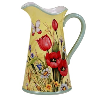Certified International Floral Bouquet Pitcher 3-quart