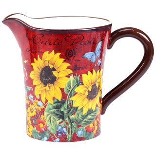 Certified International Sunflower Meadow Pitcher 3.5-quart