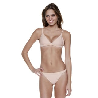 Dippin' Daisy's Blush Two-Piece Over-the-Shoulder Triangle Top with Banded Bottom