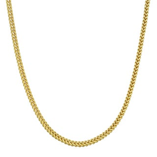 Fremada 10k Yellow Gold 1.9-mm High Polish Franco Link Chain Necklace (18 - 30 inches)