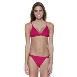 Dippin' Daisy's Pink Two-Piece Over-the-Shoulder Triangle Top with Banded Bottom