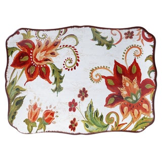 Certified International Spice Flowers Rectangular Platter 16-inch x 12-inch