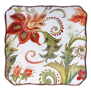Certified International Spice Flowers Square Platter 14.25-inch