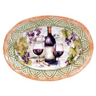Certified International Sanctuary Wine Oval Platter 16.5-inch x 12.25-inch