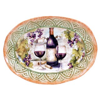 Certified International Sanctuary Wine Oval Platter 16.5-inch x 12.25-inch|https://ak1.ostkcdn.com/images/products/11445199/P18404707.jpg?impolicy=medium