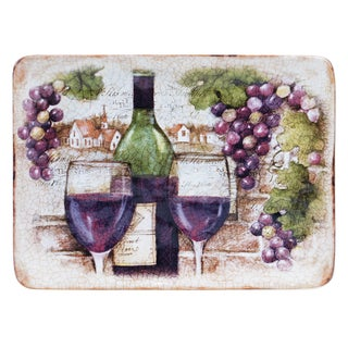 Certified International Sanctuary Wine Rectangular Platter 16-inch x 12-inch