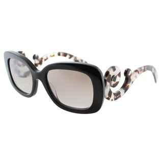 Prada Women's PR 27OS UAO4O0 Brown Rectangle Plastic Minimial-Baroque Fashion Sunglasses