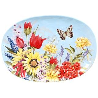 Certified International Floral Bouquet Oval Platter 17.25-inch x 12.5-inch